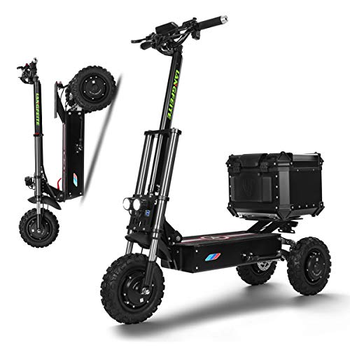 SSCJ Scooter eléctrico 3000W Potencia Alta Vespa Inteligente de Tres Rondas Plegable con 65-80 km de Largo Alcance Recargable Kick...