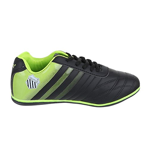 Ital-Design - Pantofole Donna Nero (Nero/Verde)