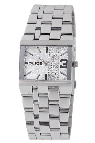 Police - GLAMOUR SQUARE PL10501BS/04M - Montre Femme - Quartz - Analogique - Bracelet Acier Argent