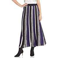 BB Dakota Junior's Can't Knit with us Striped Sweater Skirt, black, large