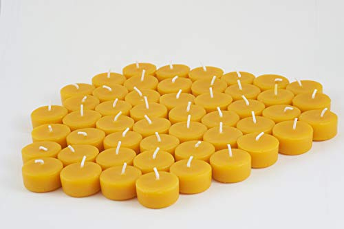 Teelichter aus 100% Bienenwachs vom Imker - 50 Stück aus der Imkerei Freese