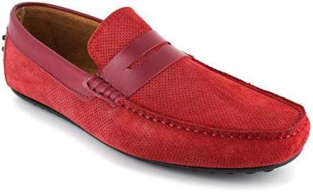 Mocasín J.Bradford Cuero Rojo  En línea Obtenga la mejor oferta barata de descuento más grande