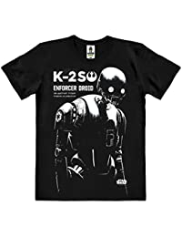 Star Wars - Rogue One - droïde K-2SO T-Shirt 100 % coton organique (agriculture biologique) - noire - design original sous licence - LOGOSHIRT