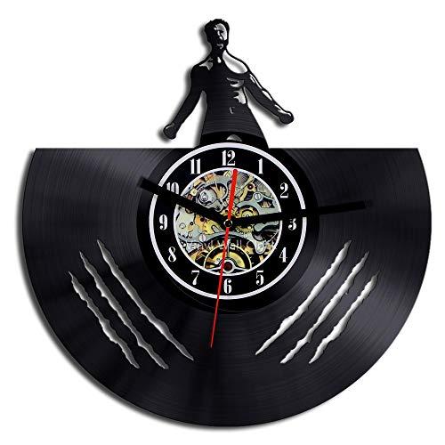 Wolverine Vinyl Record Wall Clock, Classic Creative Movie Hero Character Theme Art Wall Decoration Clock -30cm (12 Zoll)
