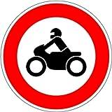 LEMAX® Schild Alu Verbot für Krafträder Verkehrszeichen 255 420mm reflektierend