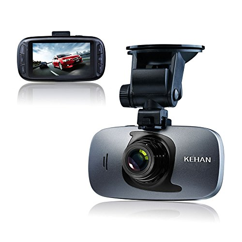 "KEHAN C819N Full HD 1080P Auto Kamera Car DVR Dashcam Camcorder Camera Carcam Video Recorder Blackbox 2.7"" LCD-Bildschirm Novatek 96650 + Sony IMX323 mit GPS Logger 12M Fotoauflösung G-Sensor HDR SOS-Taste Digitalzoom 32GB Speicherkarte"
