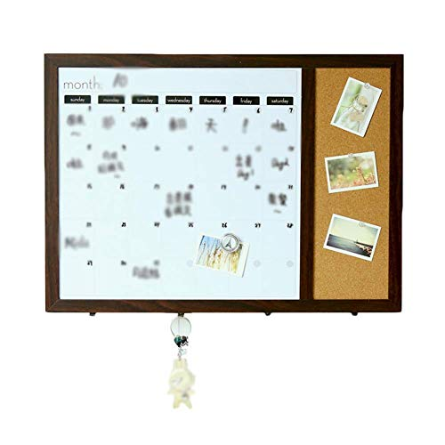 Q.AWB Message Board Signs Message Board Kreidetafeln Magnetic Cork Board Whiteboard Kalenderraster Blocking The Meter Box Hook Up (Farbe: Holz, Größe: 60x42,9x1,5 cm)