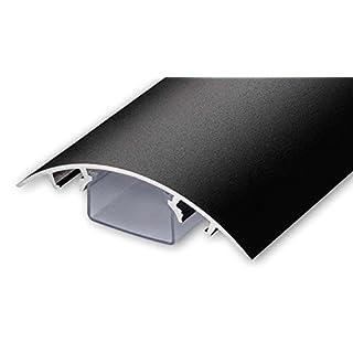 TV Design Aluminium Kabelkanal in schwarzmatt Feinstruktur lackiert in verschiedenen Längen von ALUNOVO (Länge: 40cm)
