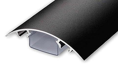 TV Design Aluminium Kabelkanal in schwarzmatt Feinstruktur lackiert in verschiedenen Längen von ALUNOVO (Länge: (Kabelkanal Für Tv)