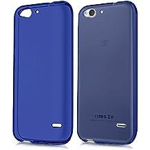 TBOC Funda de Gel TPU Azul para ZTE Blade S6 Plus de Silicona Ultrafina y Flexible