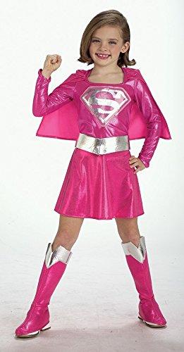 pinkes Supergirl Kinderkostüm, Größe:M