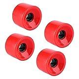 Alomejor Ruote da Skateboard, 70 * 51mm Longboard Set di Ruote da Skateboard per Sostituzione Longboard(Rosso)