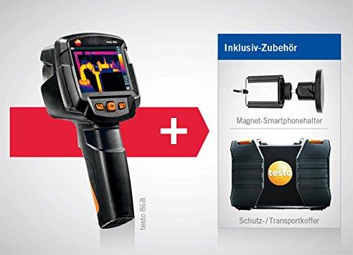 térmica de cámara Testo 868, incluye maletín y kleinsc hmidt GmbH magnético de soporte para smartphone