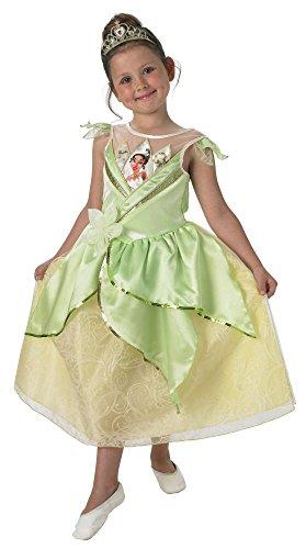 Disney Prinzessin Kinder Kostüm Tiana Shimmer mit Diadem Gr.S(3-4J.) (Prinzessin Tiana Kind Kostüme)