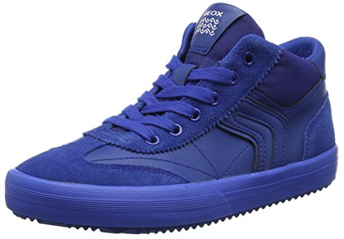 Geox Jungen J Alonisso Boy C Hohe Sneaker, Blau (Royal), 36 EU (Patent-high-top-sneaker)