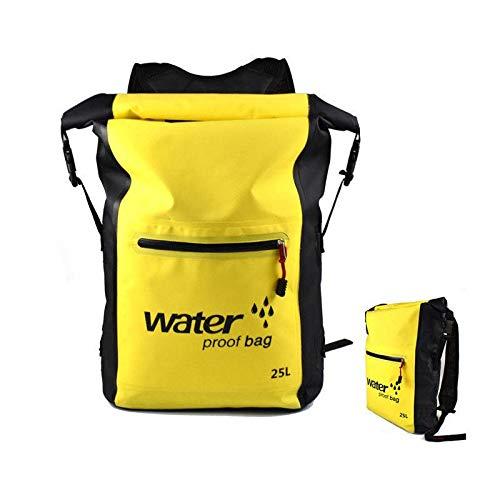 flo en tauchen GROSSARTIG 25L Kanu Kajak Surf Storage Pack Raft imprägniern trockenen Rucksack (Farbe : Gelb)