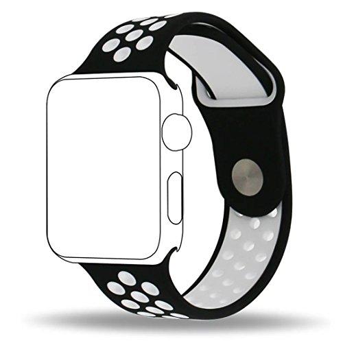 Inteny Apple Watch Band Series 1Series 2, morbido silicone Nike + sport Band cinturino da polso di ricambio per iWatch