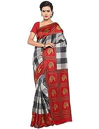 Samskruti Sarees Women's Cotton Silk Saree With Blouse Piece (Syuvef000400_Multi-Coloured)