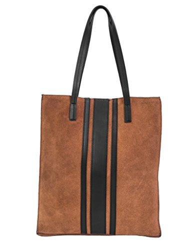 Paint Genuine Dark Tan Suede Tote Bag