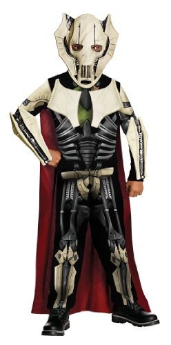 Original Lizenz Star Wars General Grievous Grievouskostüm Kostüm Clonewars Clone Wars Fasching Kinderkostüm für Kinder Gr. 134/140, 116/122, 98/104, Größe:S (Kostüm Clone Star Wars)