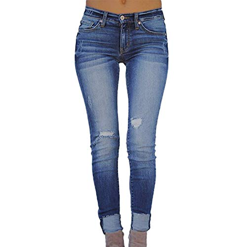 Jiameng jeans uomo strappati lavato pantaloni in denim uomini straight pantaloni jeans moda (xxxxl,blu)