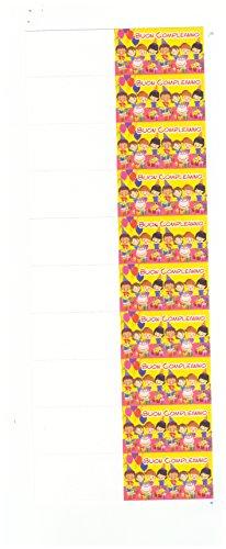 takestop Set 100Stück Karten Geschenke Geburtstag gelb Kinder Party Party Gastgeschenk bedruckbar Bulletin Confetti Basteln