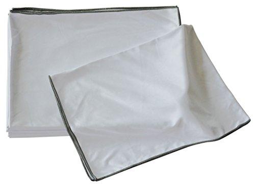 MJ Texpia, Mikrofaser Dekantertücher, 47cmx70cm, 200g-sqm, Weiss, 10-er Pack