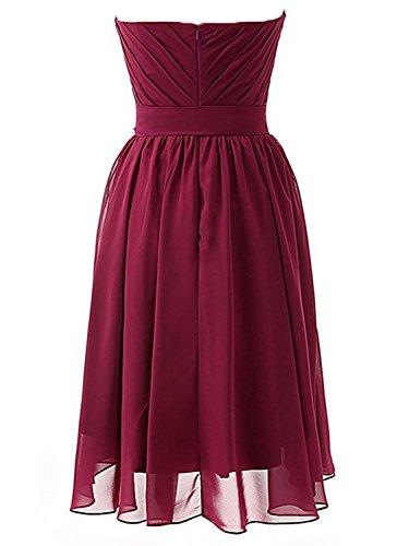 Promworld Damen A-Linie Kleid Rot Burgunderrot Liliac