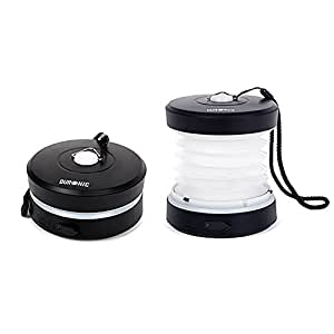 Duronic RL123 Rechargeable (Never Needs Batteries!) Pop Up ECO Wind-Up LED Camping Lamp |Fishing |Emergency Lantern | 41 Lumens White Light