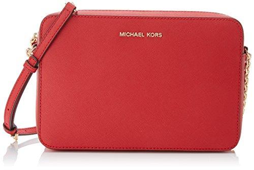 Michael Kors Crossbodies, Borsa a Tracolla Donna, Rosso (Bright Red), 1.9x10.2x22.9 Centimeters (W x H x L)