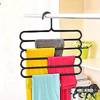 TONY STARK Closet Organizer Space Saving Plastic Multi-Functional Storage Wardrobe Clothes Organizer Hanger for Shirts…