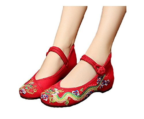Lazutom , Mary Janes pour femme Taille unique red
