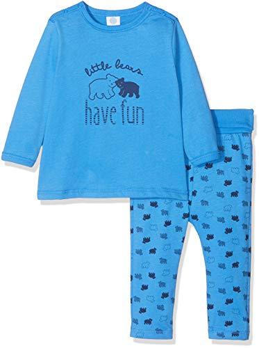Sanetta Sanetta Baby-Jungen Zweiteiliger Schlafanzug Pyjama Long, Blau (Azur 50283.0), 74