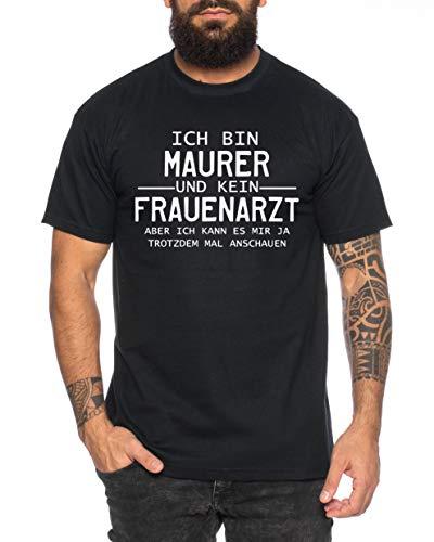 Maurer Herren T-Shirt Cooles lustiges Fun Shirt, Farbe:Schwarz, Größe:3XL (Shirts Ball Fitness Dragon Z Von)