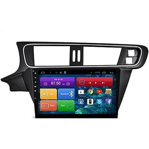 Top Navi da 10.11024* 600Android 4.4lettore PC Auto per Citroen C3XR 2015Auto di navigazione GPS WIFI Bluetooth Radio 1,2GB CPU DDR3Capacitivo Touch Screen 3G car stereo audio rubrica RDS AUX Specchio link 16GB Quad Core