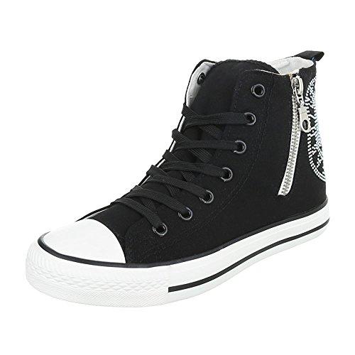 Sapatas Preto Esportes Ital Sapatos Tênis Das Sapatos Casuais Zíper Fechou Senhoras design Cw6q5xgw