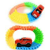 Praish Flexible Variable Track Set with Light Weight Car
