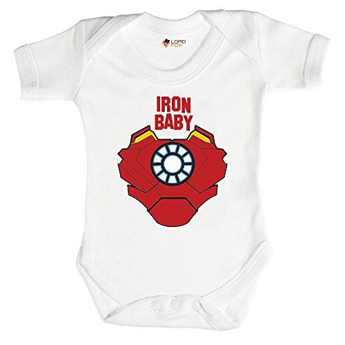 Iron Baby Marvel Strampler von Baby Grow, alle Größen, Einteiler 0–24Monate Unisex  0-3 Monate