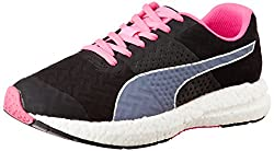Puma Womens NRGY Wn s Black and Fluo Pink Running Shoes - 3 UK/India (35.5 EU)