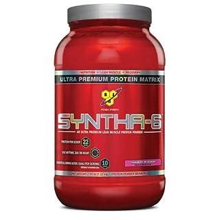 BSN SYNTHA-6 Protein Powder - Strawberry Milkshake, 2.91 lb (28 Servings) by BSN