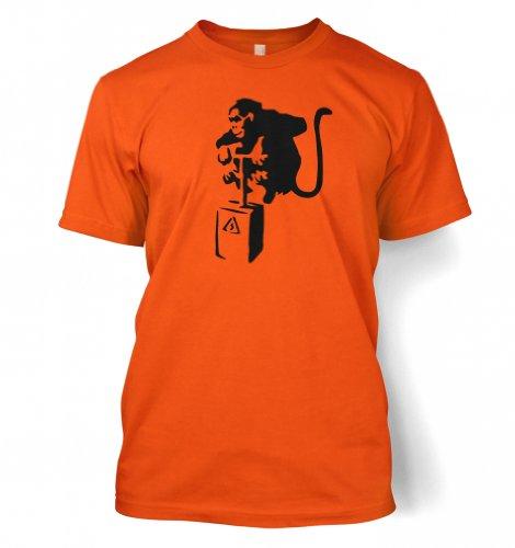 Detonator Affe Banksy Männer T-Shirt Orange