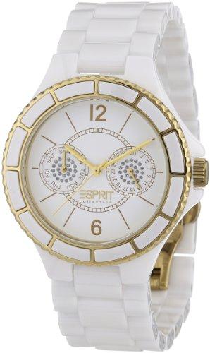 Esprit EL101332F03 - Reloj analógico de cuarzo para mujer con correa de plástico, color blanco