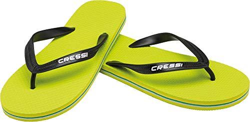 Cressi Beach Flip Flops, Ciabatte Infradito per Spiaggia e Piscina Unisex, Lime/Nero,...