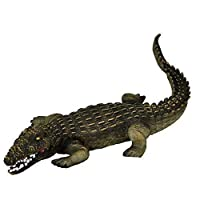 """BW & H Large 23"""" (46 cm) Crocodile Stuffed Rubber Realistic Details Play Toy Museum"""