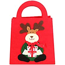Topdo 1 Pieza Bolsa de Regalo Navidad con Cajas de Tela no Tejida Elk Lindo Portátil