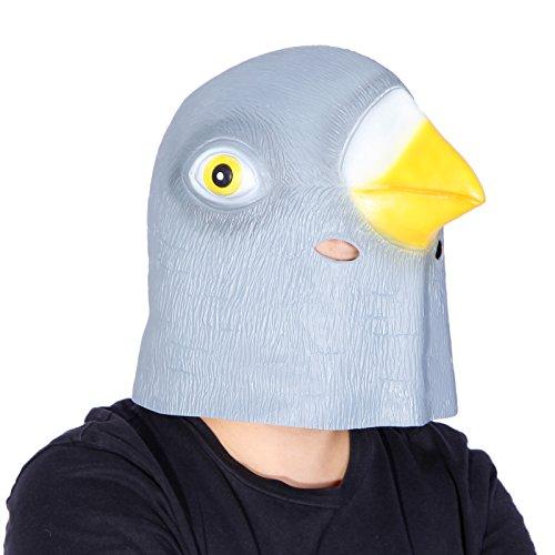 Anladia Latex Taube Maske Tiermaske Kopfmaske Vollmaske fuer Halloween Fasching Kostuem (Taube Kostüme)