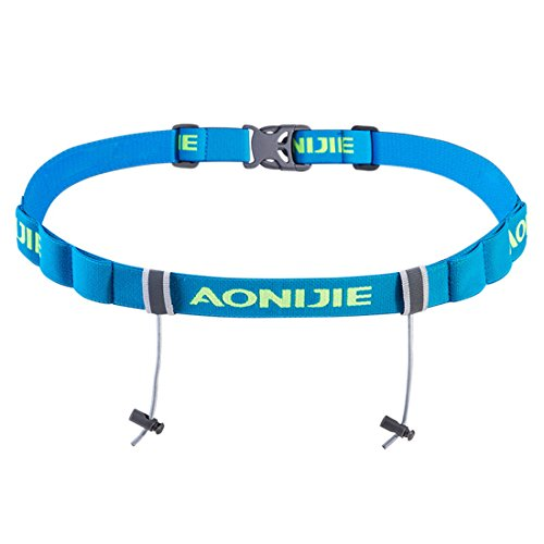 AONIJIE Triathlon/Marathon/Race Startnummerngürtel Startnummernband (Blau) -