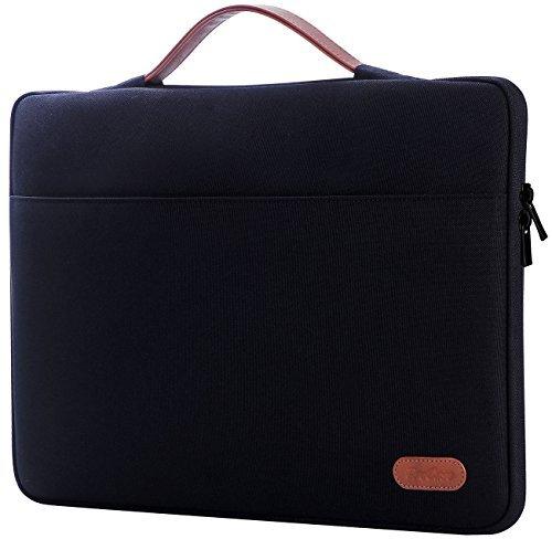 """ProCase 14-15.6 Zoll Hülsen Tasche für 15\""""/16\"""" MacBook Pro 2019 A2141 2016, Ultrabook Notebook Tragetasche Handtasche für 14\"""" 15\"""" ASUS Acer Lenovo Dell HP Toshiba Chromebook Computers -Schwarz"""