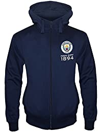 Manchester City FC Official Football Gift Mens Fleece Zip Hoody