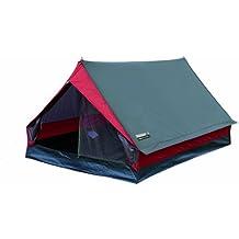 High Peak Minipack - Tienda de campaña para dos personas, tamaño 190x120x95, color gris/rosa